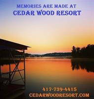 Come make memories that will last a lifetime.... Memories are made at Cedar Wood Resort!