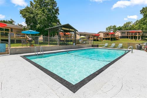 Enjoy the lakefront pool.