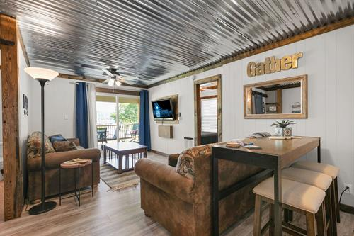 Many cabins have been completely remodeled.
