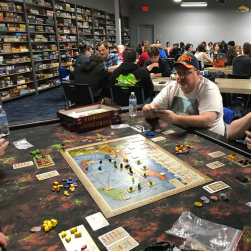 Monday and Thursday night is board game night