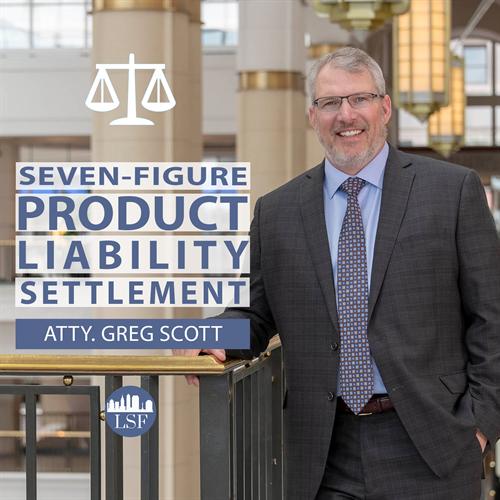 Product Liability Settlement from Greg Scott