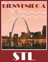 """Welcome to St. Louis"" Poster in Spanish"