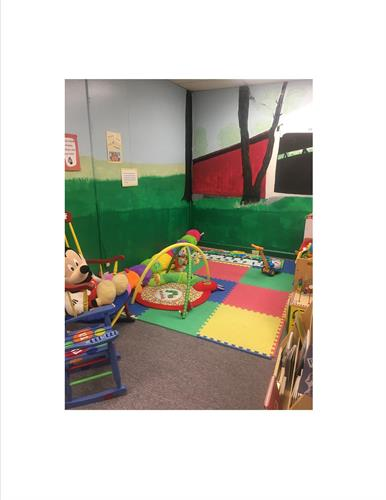 The Center offers an educational area for infants also.