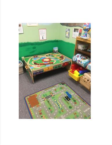 One of our popular areas, our train table.