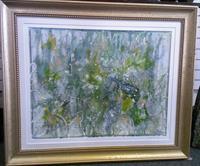 """ UNDER THE SEA"" Original Acrylic & Wax Painting"
