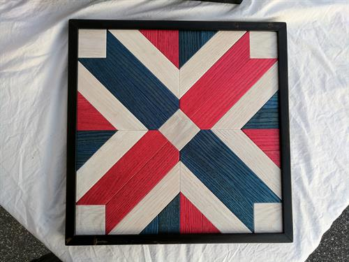 flag quilt all hand made and finished to hang on wall