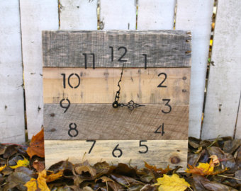 rustic hand made clock
