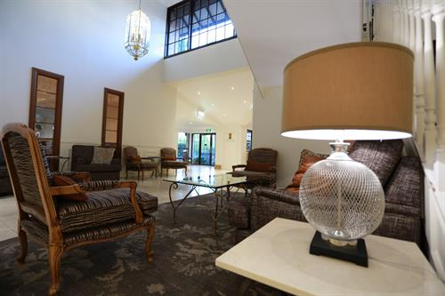 Hills lodge foyer