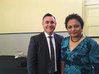 Chatting with John Barilaro, Deputy Premier of NSW, about my business