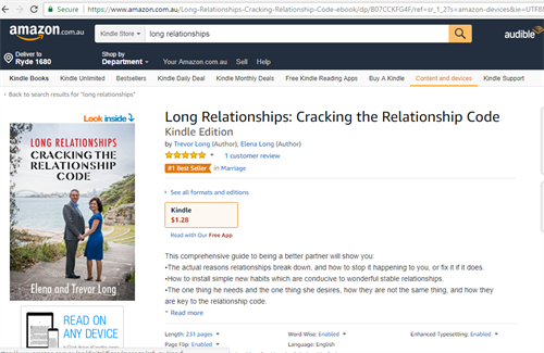 Amazon.com.au Bestseller in category Marriage