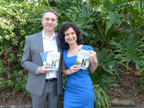 Elena and Trevor with their bestselling book