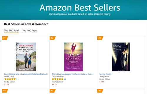 Bestseller in categories Love and Romance