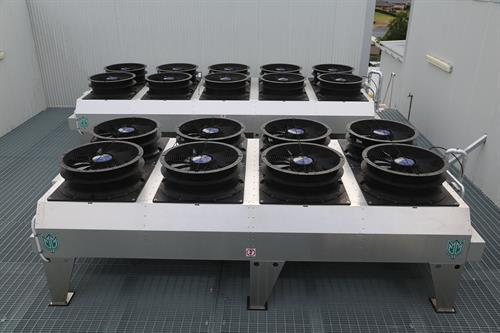 Industrial condenser deck.