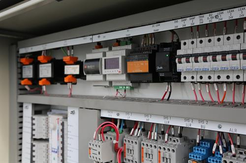 Industrial and commercial electrical switchboards.