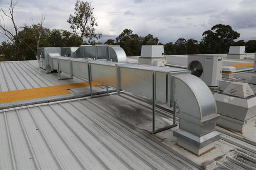 Commercial extraction ventilation fans.