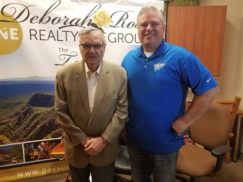 Cameron Davis with former Maricopa County Sheriff Joe Arpaio