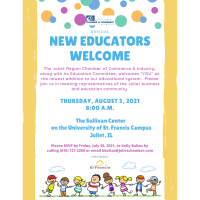 2021 New Educators Welcome August 5th