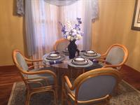 Formal Dining Room - or cook outside with our grill and sit under the gazebo to eat !