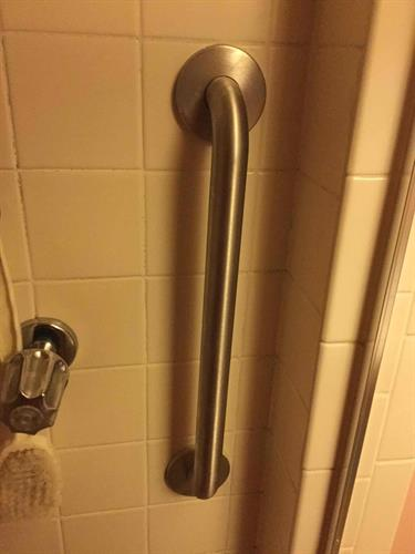 Grab bars can be helpful assists in the bathroom.