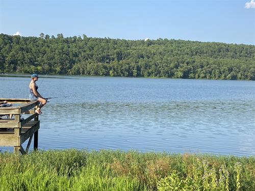 Fishing at Paris Lake