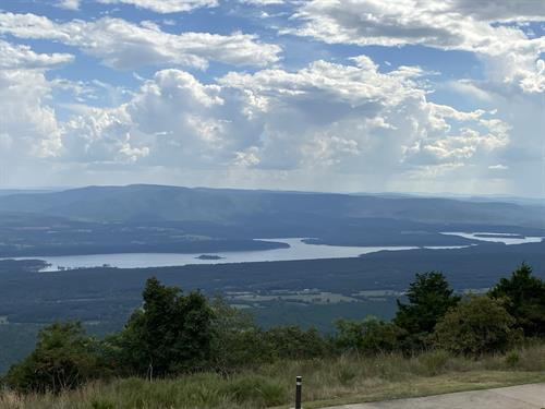 Beautiful view from the lodge at Mount Magazine