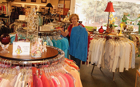 Shop the main floor for clothing and accessories, toys, books and household items.