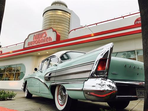 Where else can you grab a burger, a shake and check out classic cars?