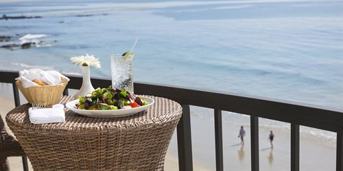 Take in the stunning views of the Pacific right from your balcony