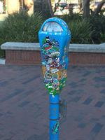 Change for the Homeless Painted Parking Meter