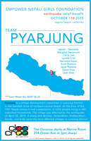 Cloocroo graphic design done for Earthquake Relief Benefit for Empower Nepali Girls Foundation with team Pyarjung