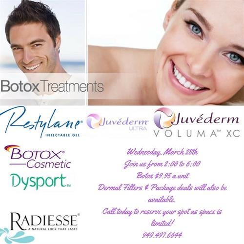 One of the promotions from our Botox Event!