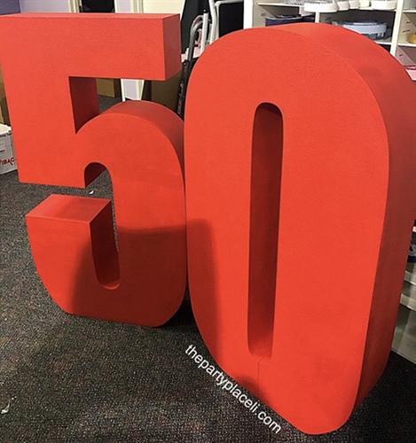 Huge custom numbers, letters or phrases