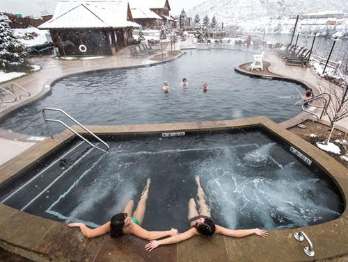 Share a day at Iron Mountain Hot Springs with a friend