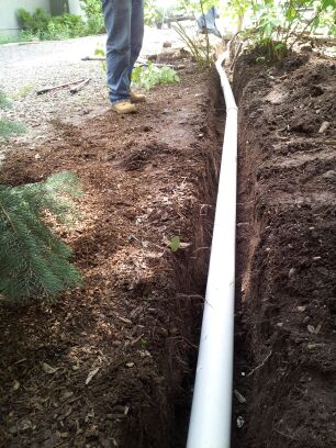 drain pipe installation