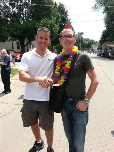 Former Board Member Matt Appleman with Adam Kitzinger