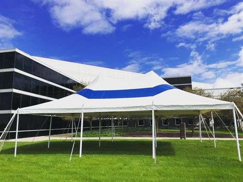 Blue & White Party Tent