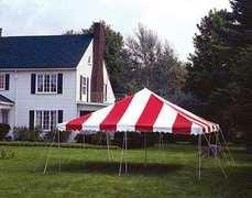 Red & White Party Tent