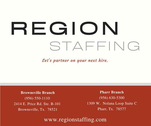 We are REGION STAFFING!