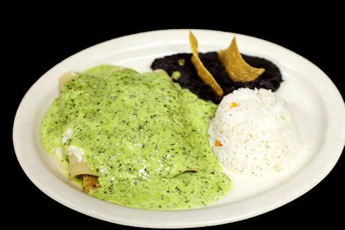 "Seafood Enhiladas ""verdes"""