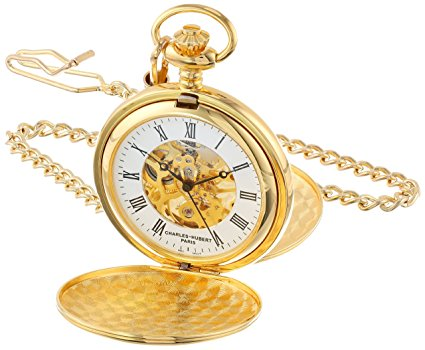 Charles Hubert gold tone pocket watch lifetime warranty