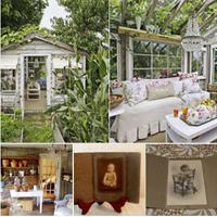 Browse Vintage Photographs & have Iced Tea under the Elephant Ears at Eva Bees