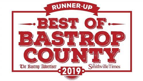 Runner-Up Best of Bastrop County 2019