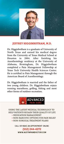 Jeffrey Higginbotham, MD bio card