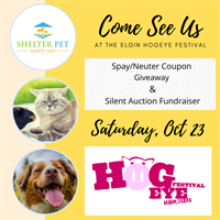 Shelter Pet Safety Net's Spay/Neuter Coupon Giveaway at Hogeye Festival