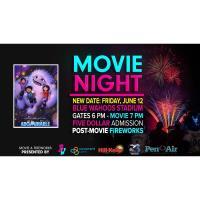 Movie & Fireworks Night at Blue Wahoos Stadium
