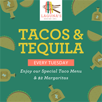 Tuesday Happy Hour: Tacos & Tequila at Laguna's