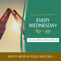 Wednesday Happy Hour: Pizza & Beer Night at Laguna's