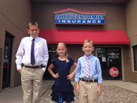 The Miller kids doing their part for American Family's Bring Your Child to Work Day 2014