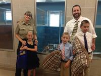 Bring Your Child to Work Day 2014 - Taking donations to the new animal shelter.