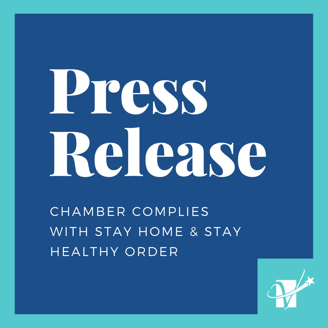 "Press Release: Chamber Complies With Washington State's ""Stay Home & Stay Healthy"" Order"